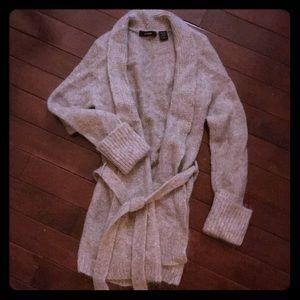 Vintage Express Cardigan. Wool/Mohair/Nylon. XS